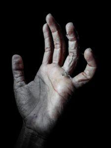 乾燥した手の写真